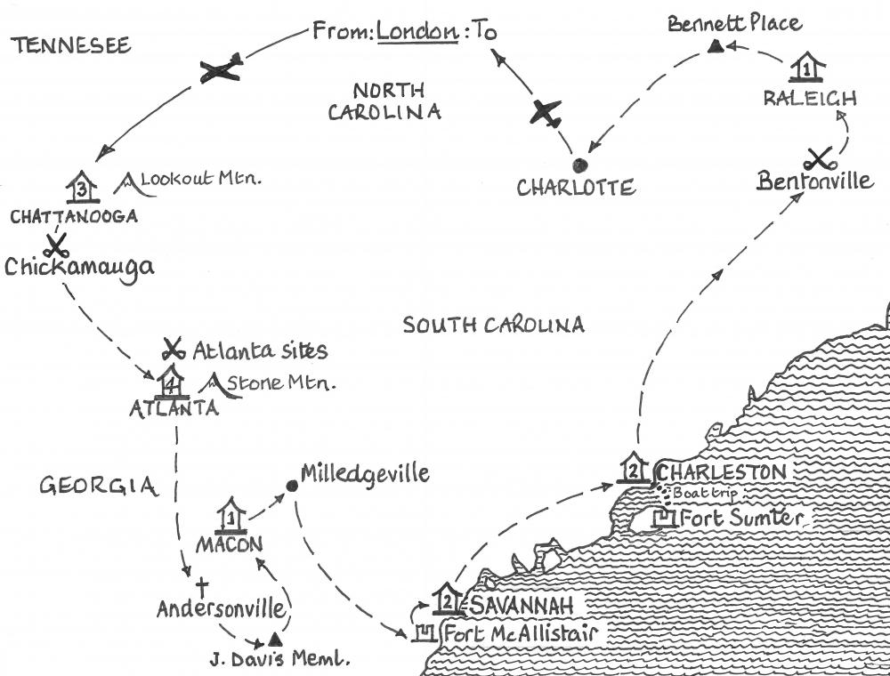 Route Map Classic Macon Architecture