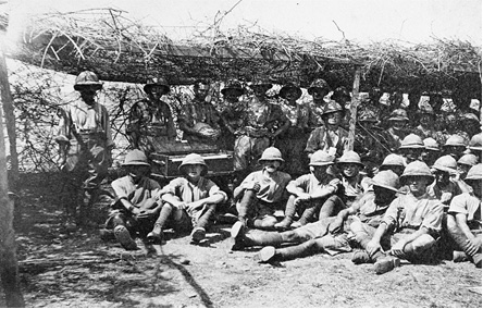 British troops in typical summer garb