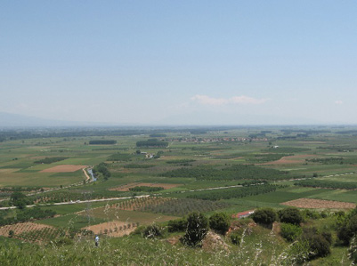 The wide, flat expanse of the Struma Valley
