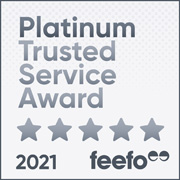feefo Platinum Trusted Service 2021