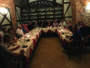 Group dinner in Krakow
