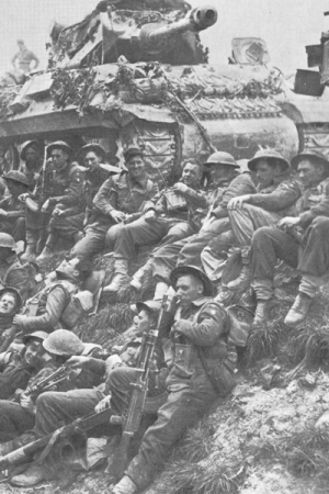 British Infantry take a rest