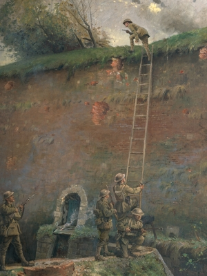 George Edmund Butler - Scaling of the walls of Le Quesnoy