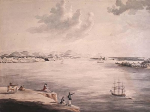 Beauport and Isle d'Orleans from Quebec c1797