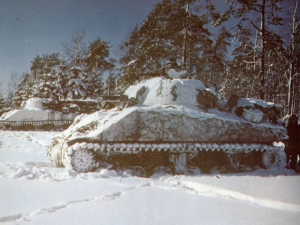 M4 Shermans outside St Vith