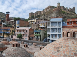 Tbilisi with Narikala Fortress in background