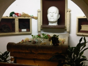 Tomb of Mussolini in the family crypt