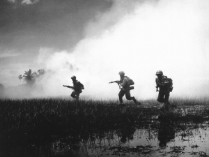 ARVN forces assault a stronghold in the Mekong Delta