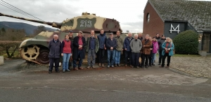 Our group with the 'captured' Tiger Tank