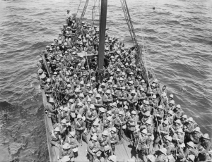 Lancashire Fusiliers bound for Cape Helles, May 1915