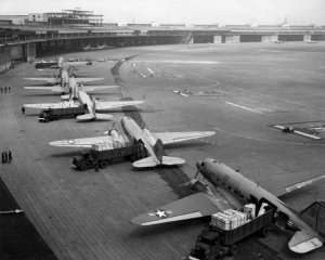 C-47 Skytrains unloading at Tempelhof Airport