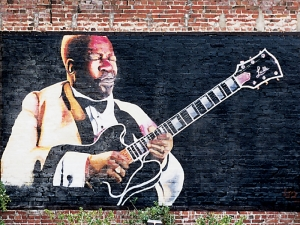 Mural of BB King - Indianola, Mississippi