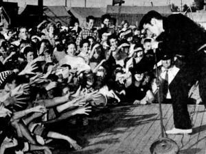 Elvis Presley performing live in Tupelo