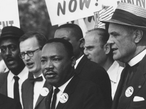 Martin Luther King Jr at a Civil Rights march