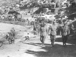 Anzac Cove looking towards Arıburnu, 1915