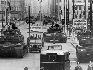 US M48 Patton tanks & Soviet T-55 tanks - Checkpoint Charlie