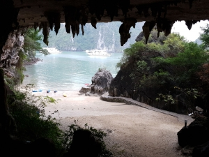 Looking out from Skall Cave
