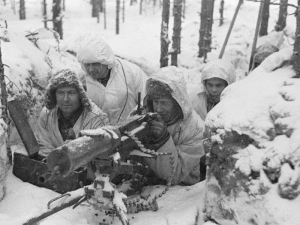 A Finnish Maxim M-09-21 machine gun nest